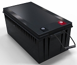 3840 Watts 3.84kW 12V 300Ah <br> EV LiFePO4 Lithium Battery Pack <br> 20.4*10.6*8.7 in <br> 520*269*221mm <br> 77.1 Lbs. / 35Kg <br> Can be connected in series up to 48 volts. <br> <b> Click here for more information </b>