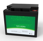 512 Watts 12V 40Ah <br> EV LiFePO4 Lithium Battery Pack <br> 7.7*6.5*6.8 in <br> 196*165*174mm <br> 14.4 Lbs. / 6.55Kg <br> Can be connected in series up to 48 volts. <br> <b> Click here for more information </b>