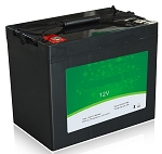 640 Watts 12V 50Ah <br> EV LiFePO4 Lithium Battery Pack <br> 7.7*6.5*6.8 in. <br> 197*165*174mm <br> 15.4 Lbs. / 7.0Kg <br> Can be connected in series up to 48 volts. <br> <b> Click here for more information </b>