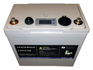 12.8V 55Ah<br>Lithium-ion Battery<br>Portable Power System<br>USA Stock