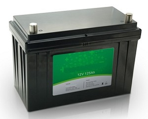 1600 Watts 1.6kW 12V 125Ah <br> EV LiFePO4 Lithium Battery Pack <br> 12.5*6.5*8.4 in <br> 318*165*215mm <br> 35.2 Lbs. / 16Kg <br> Can be connected in series up to 48 volts. <br> <b> Click here for more information </b>