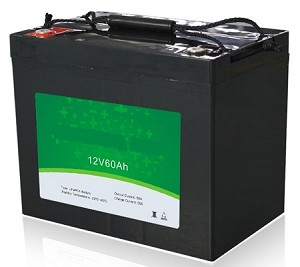 768 Watts 12V 60Ah <br> EV LiFePO4 Lithium Battery Pack <br> 10.2*6.6*8.4 in <br> 260*169*215mm <br> 23.1 Lbs. / 10.5Kg <br> Can be connected in series up to 48 volts. <br> <b> Click here for more information </b>