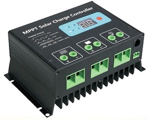 12V or 24V 20A MPPT <br> Solar Charge Controller <br> For Flooded, SLA, AGM, Gel, <br> and Lead Acid Battery Packs <br> Click here for more information