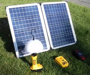 Emergency Solar Lighting <br> Powered Lighting System